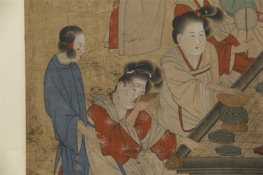 An Anonymous Chinese Silk Scroll Painting - 6