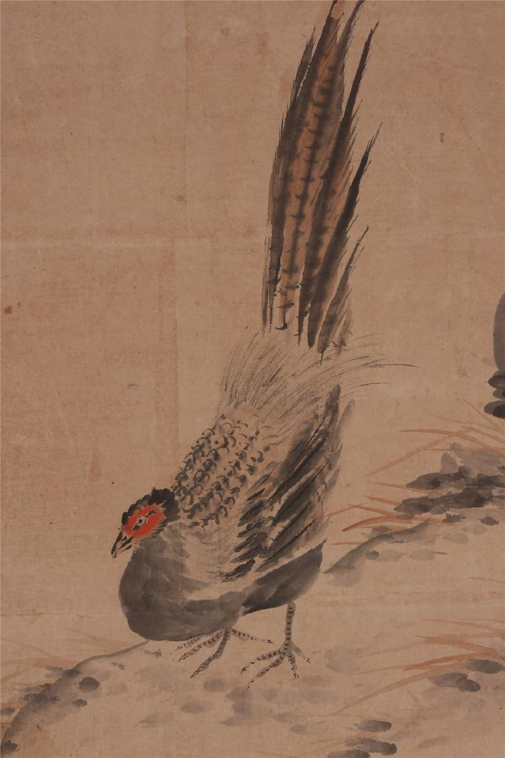 A Chinese Scroll Painting of Flowers and Birds by Hua - 7