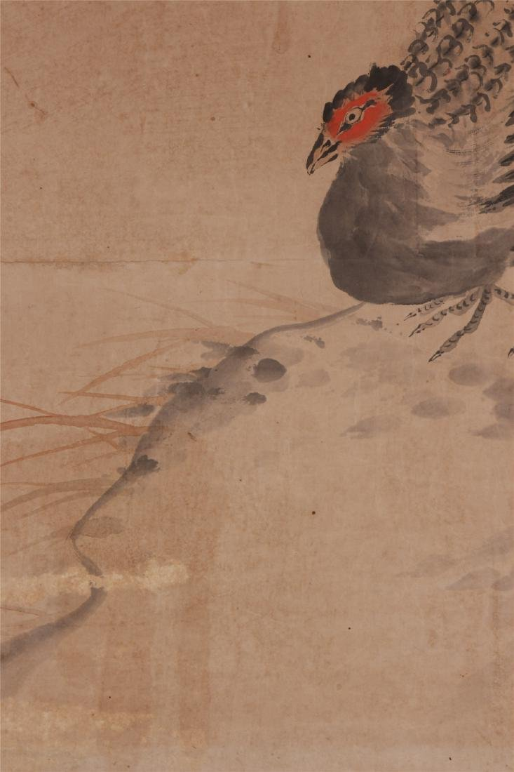 A Chinese Scroll Painting of Flowers and Birds by Hua - 8