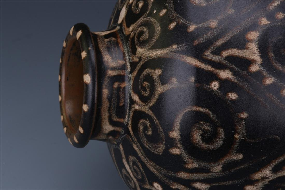A Chinese  Black Glazed Meiping Vase - 10