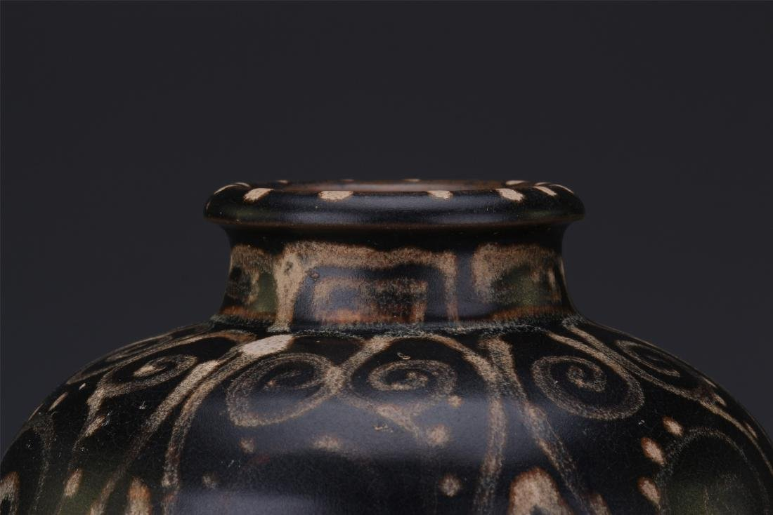 A Chinese  Black Glazed Meiping Vase - 2