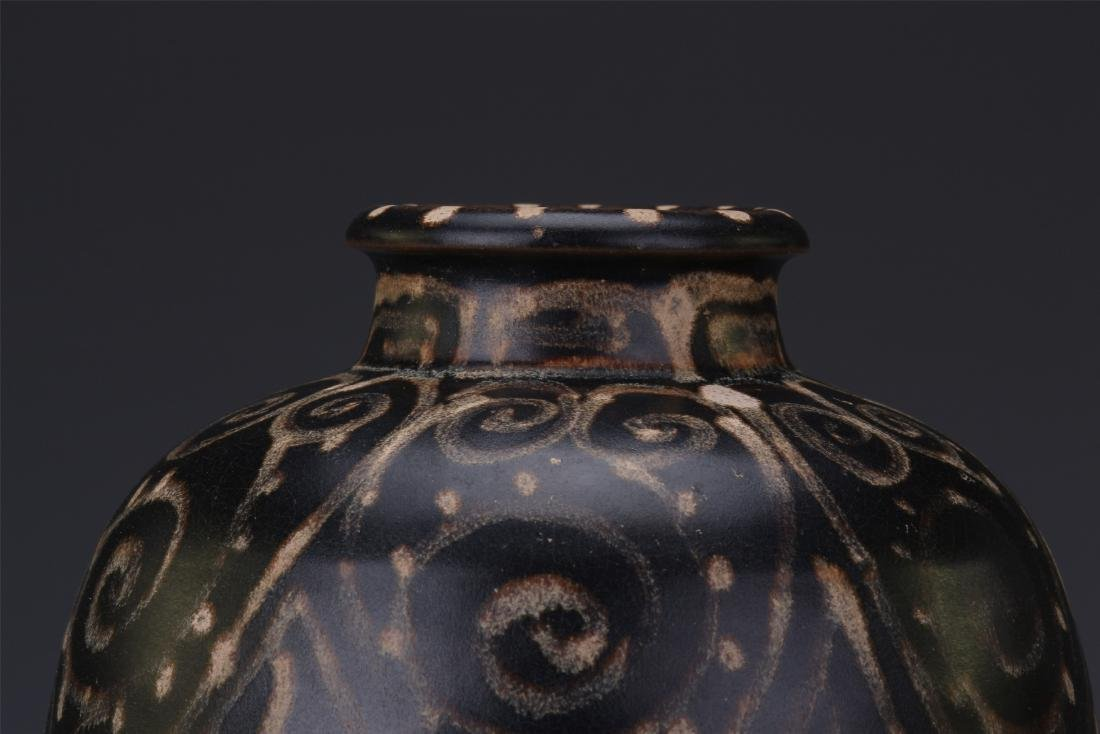 A Chinese  Black Glazed Meiping Vase - 6