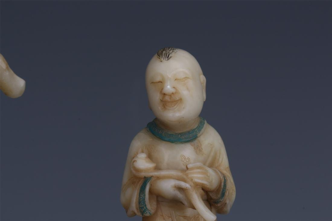 A Chinese  Carved  Soapstone Figure of Immortal - 10