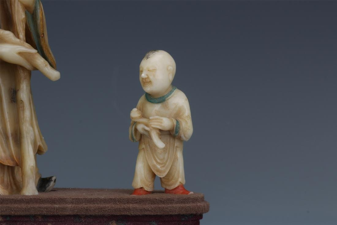 A Chinese  Carved  Soapstone Figure of Immortal - 2