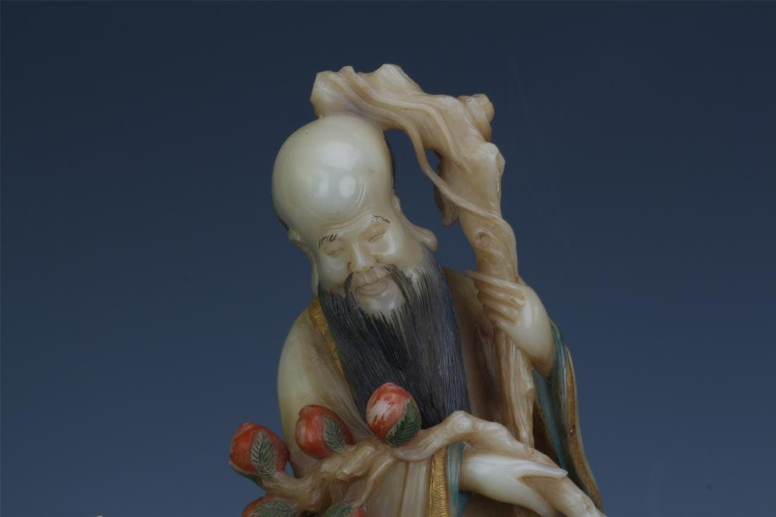 A Chinese  Carved  Soapstone Figure of Immortal - 3