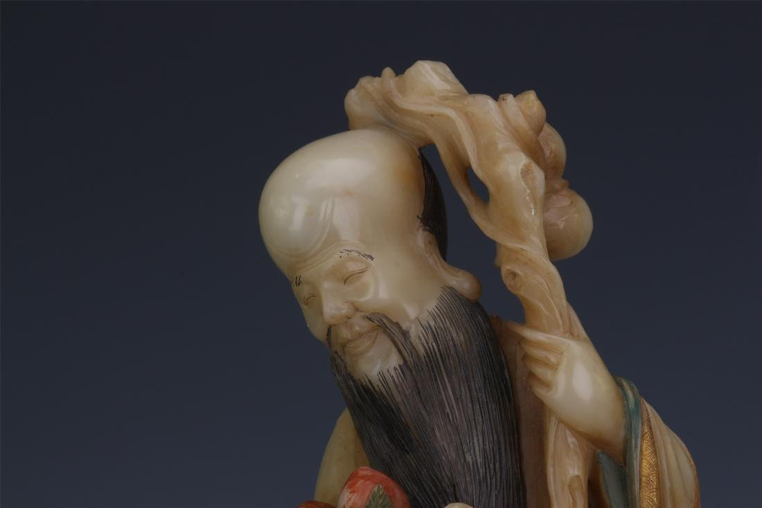 A Chinese  Carved  Soapstone Figure of Immortal - 6