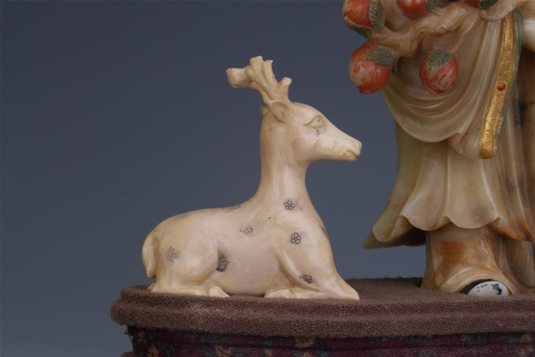 A Chinese  Carved  Soapstone Figure of Immortal - 8