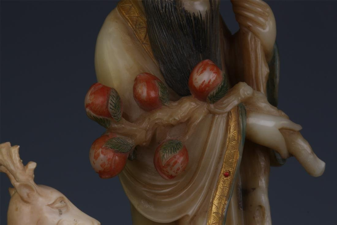 A Chinese  Carved  Soapstone Figure of Immortal - 9