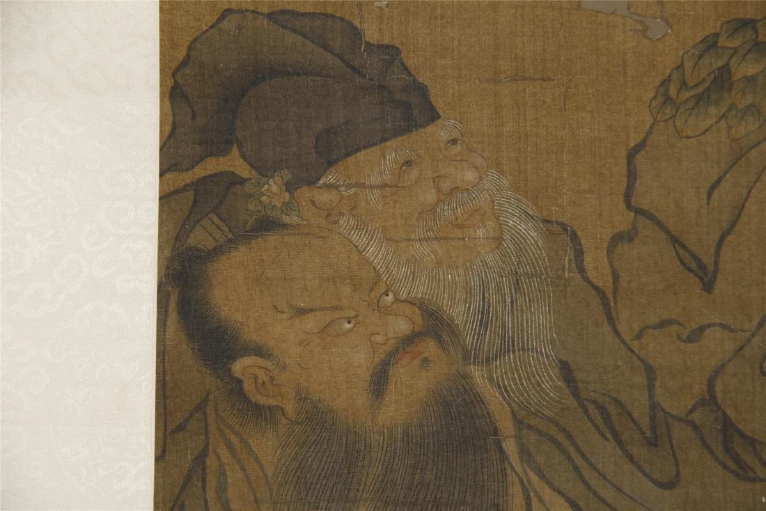 An Anonymous Chinese Silk Scroll Painting of Eight - 5
