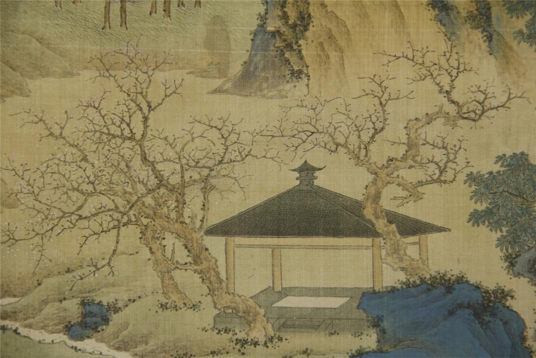 A Chinese Silk Scroll Painting of Landsape by Jin Cheng - 8