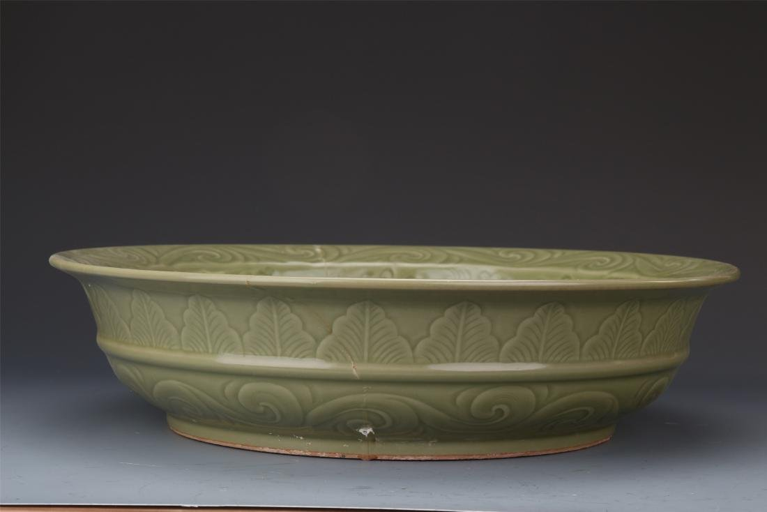 A Finely Carved Chinese  Longquan Disk with Lingzhi - 9