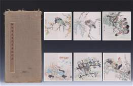 A Chinese Painting  Album leaves of Flowers and Birds