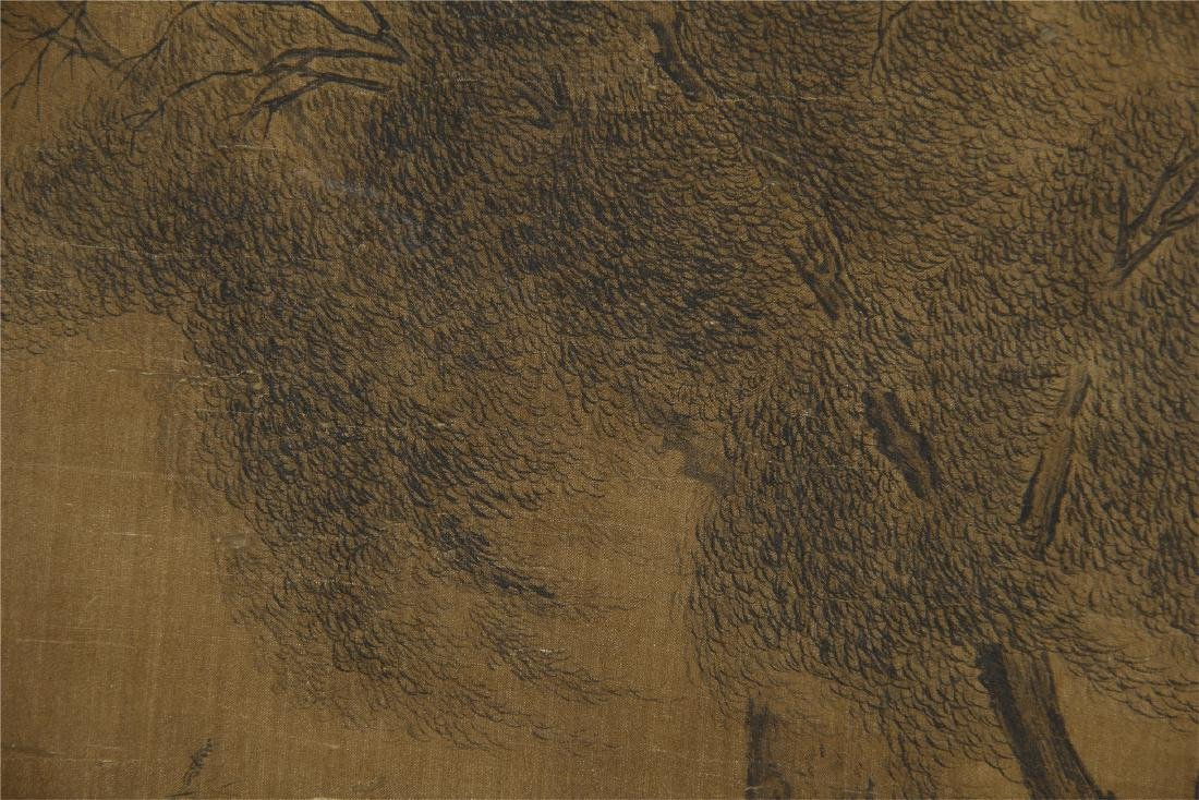 An Anonymous  Chinese Silk Scroll Painting of Twin Oxen - 6