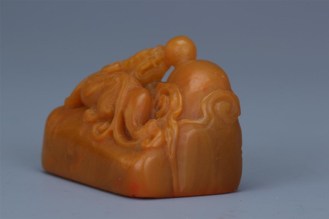 Two Chinese Carved Soapstone  Beast Seals - 10