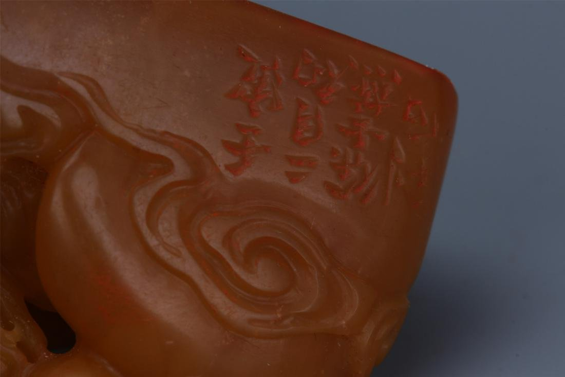 Two Chinese Carved Soapstone  Beast Seals - 8