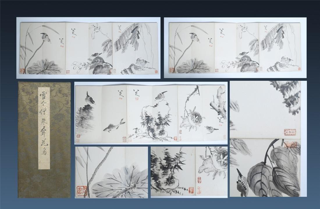 A Chinese Painting Album of Flowers by Badashanren
