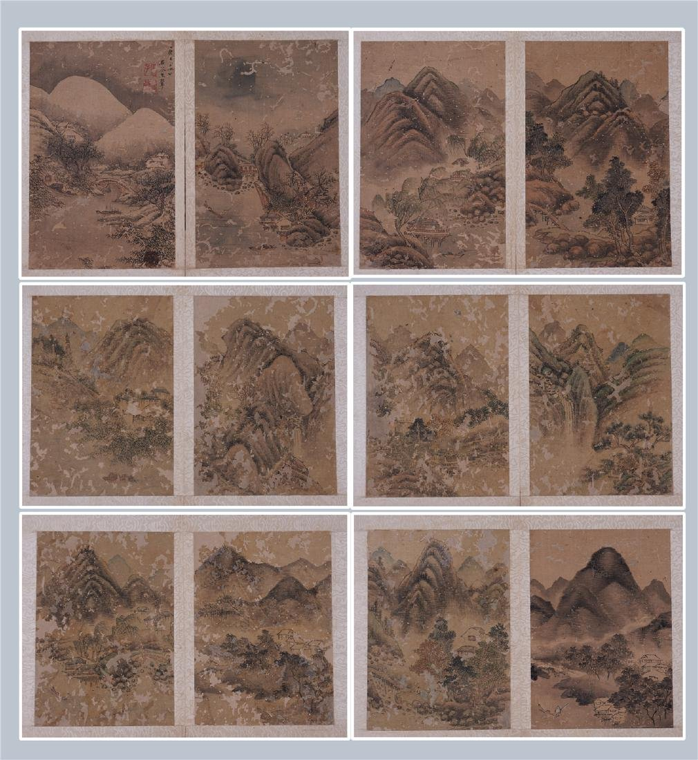 A Fine Chinese Painting Album of Landscape by Wang Hui