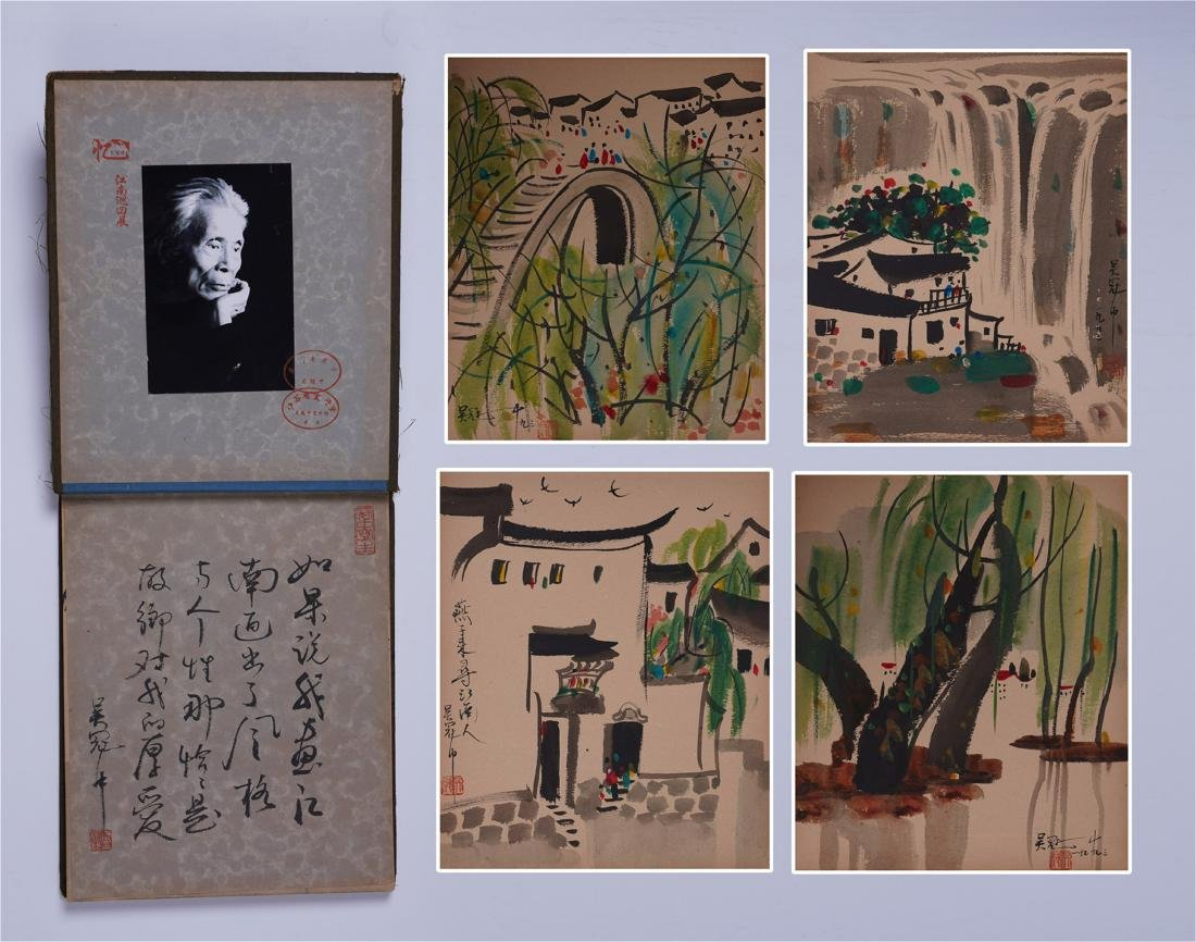 A Fine Chinese Painting Album of Southern Landscape by