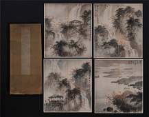 A Fine Chinese Painting Album of Scholars by Fu Baoshi