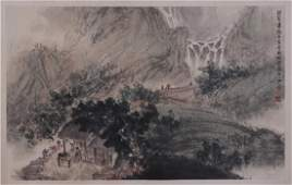 A Fine Chinese Painting of Scholars by Fu Baoshi