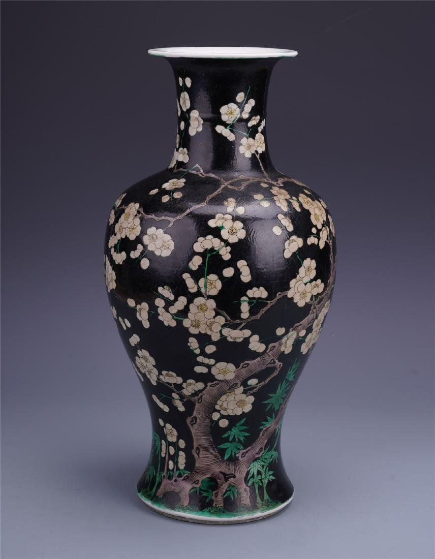 A Chinese Enamelled  Famille Rose 'Plum Blossom' Bottle