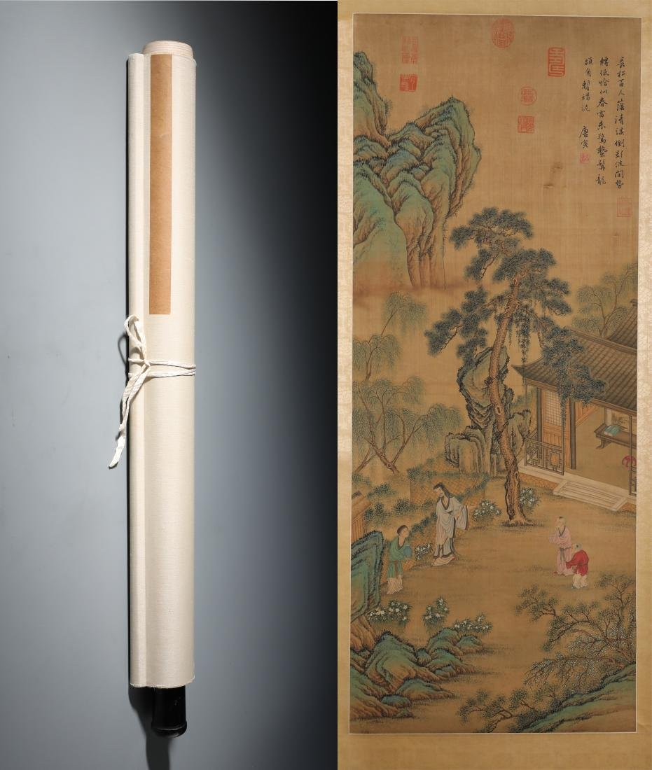 A Fine Chinese Hand-painted Scroll Signed by Tangyin