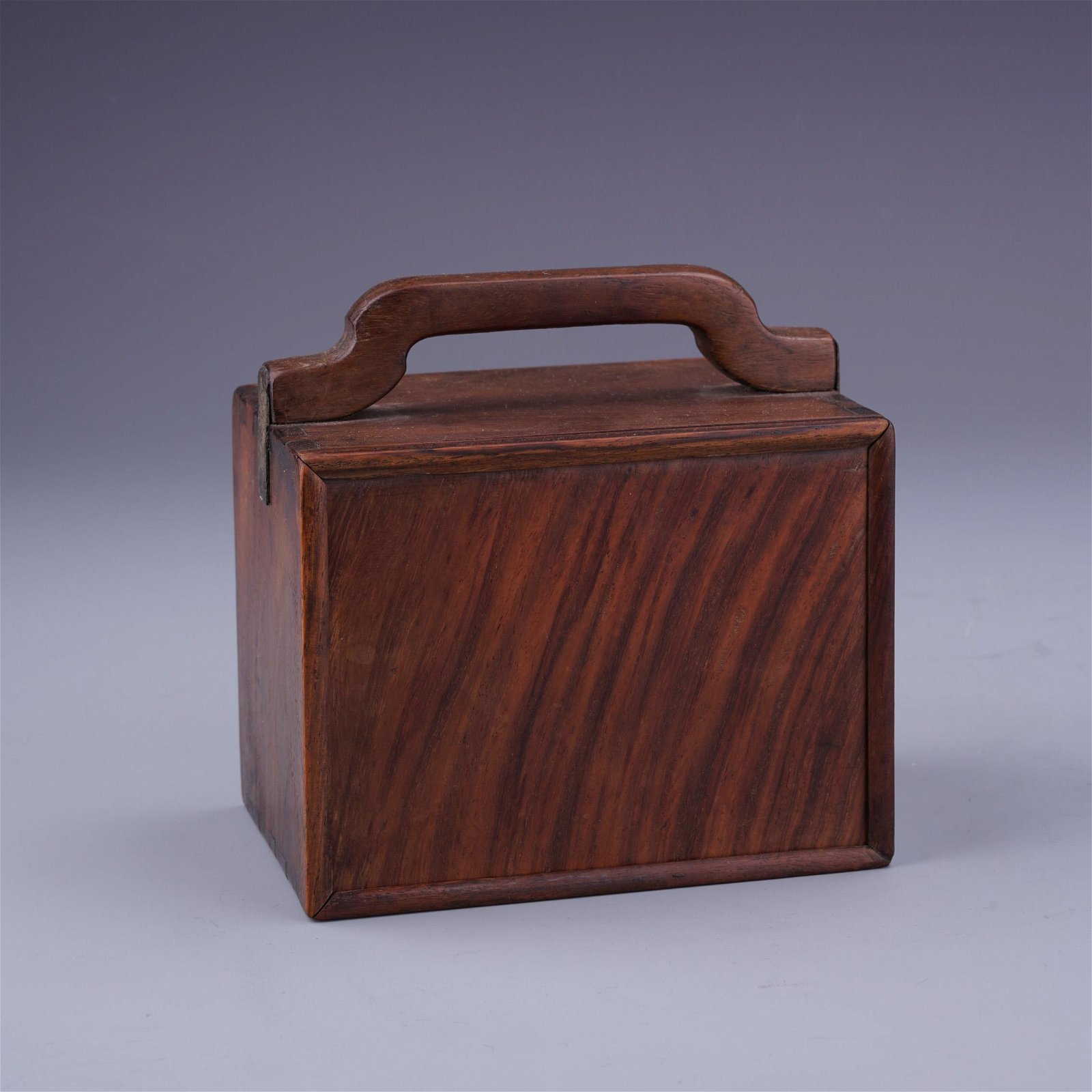 A Chinese Huanghuali Multistory Box with Handle