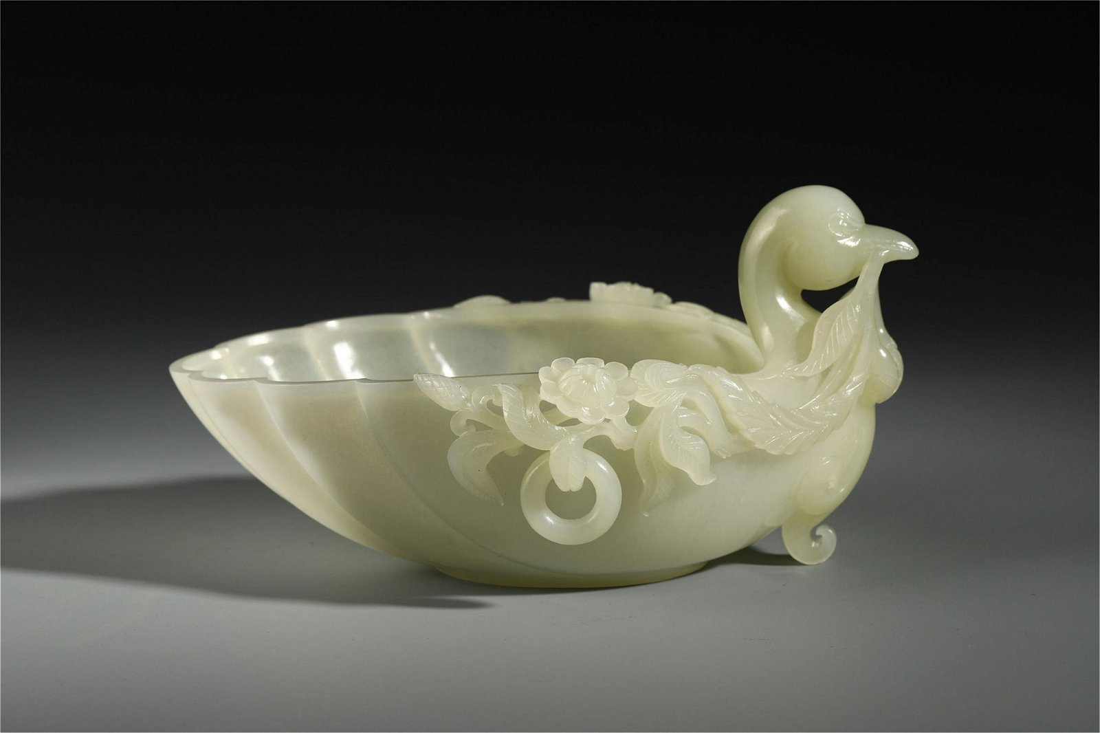 A Chinese Jade Carved Brush Washer