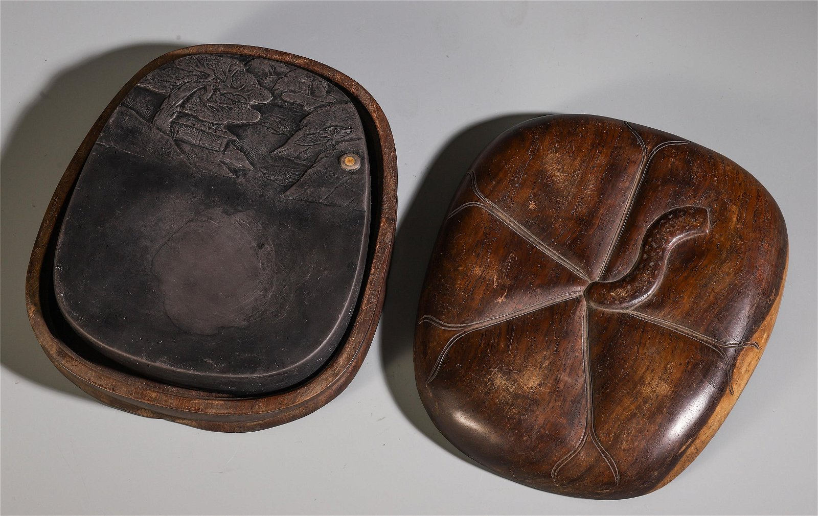 A Chinese Ink Stone with Box