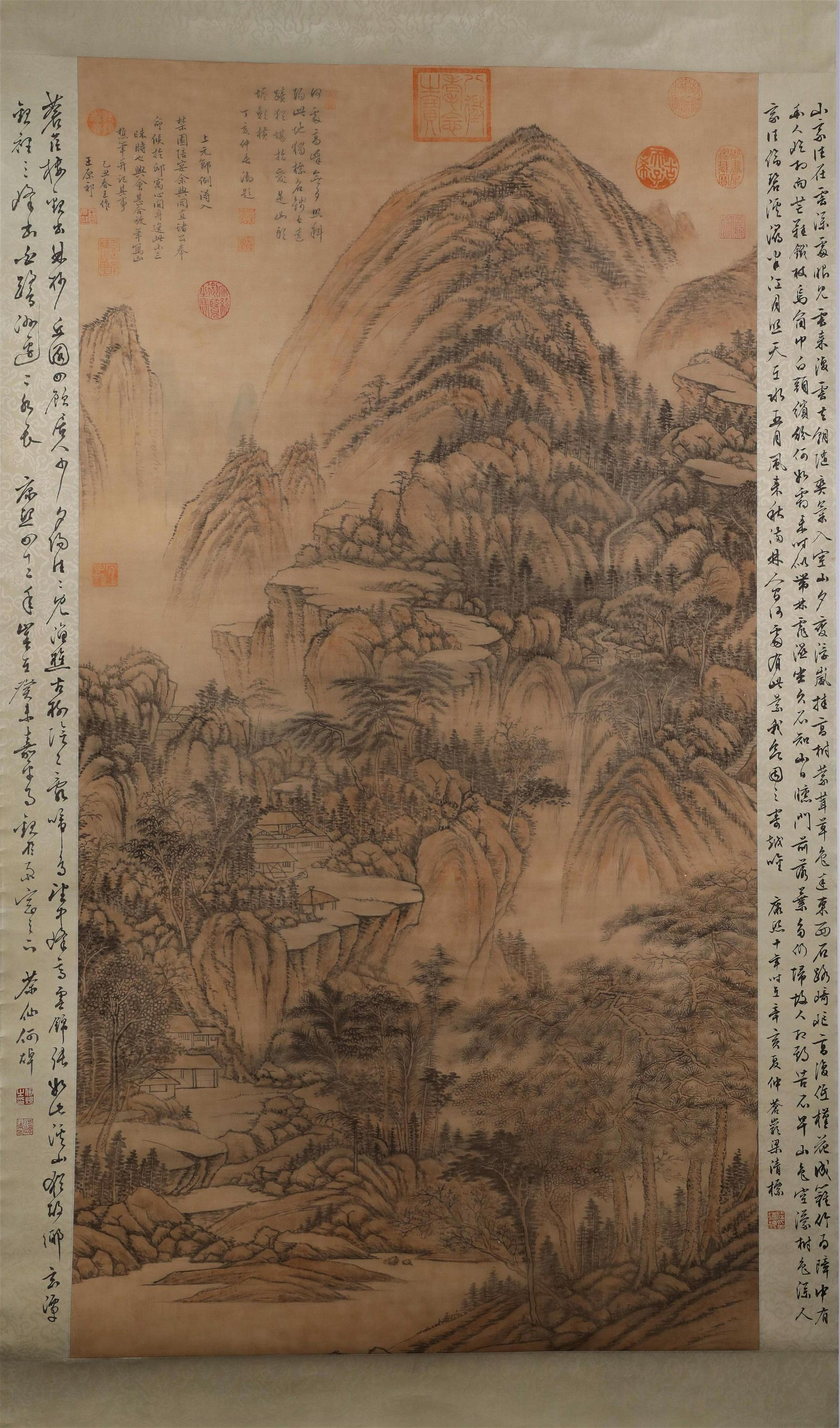 A Fine Chinese Hand-drawn Painting  Signed By Wang