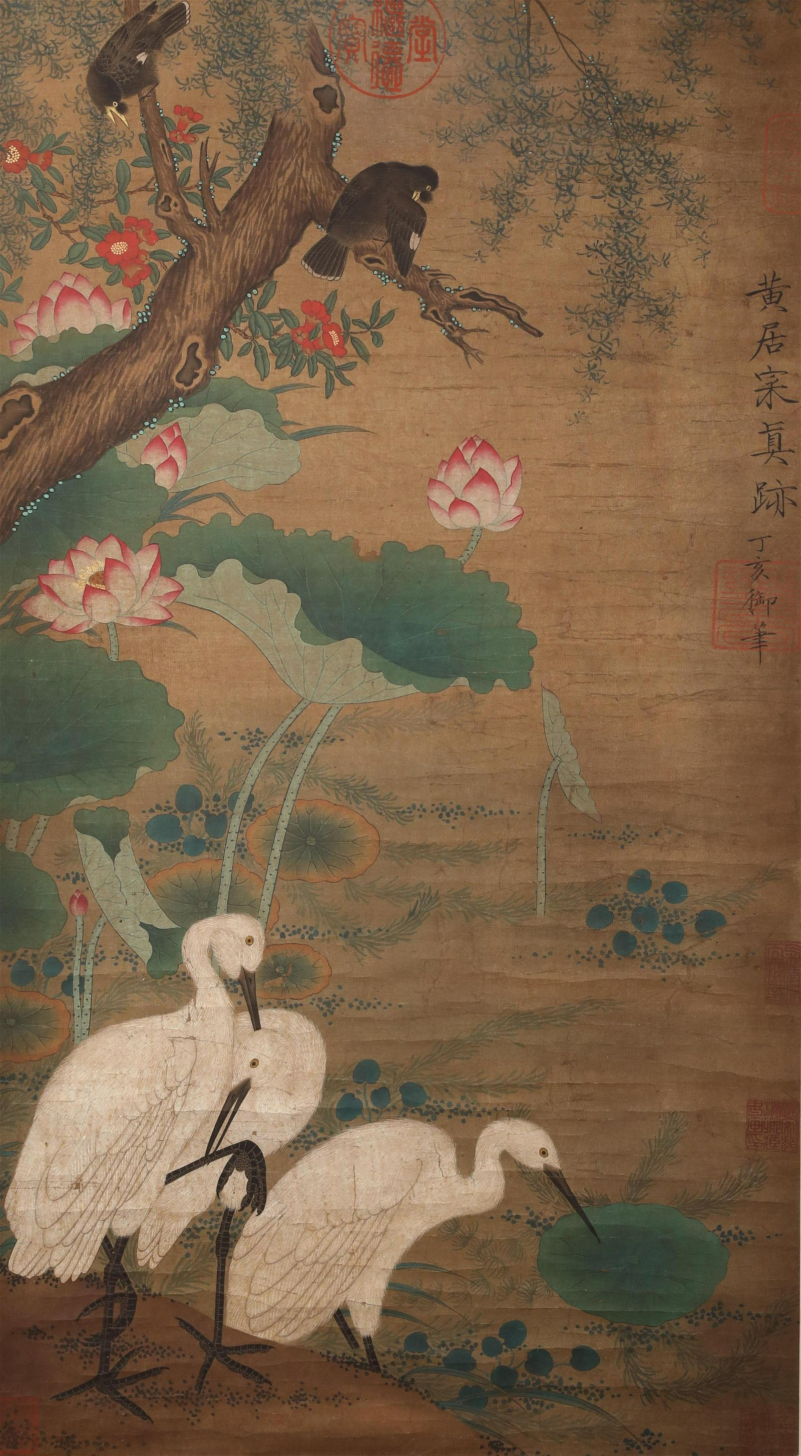 A Fine Chinese Hand-drawn Painting  Signed by