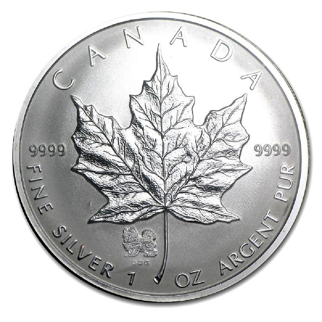 2006 Canada 1 oz. Silver Maple Leaf Reverse Proof Dog P