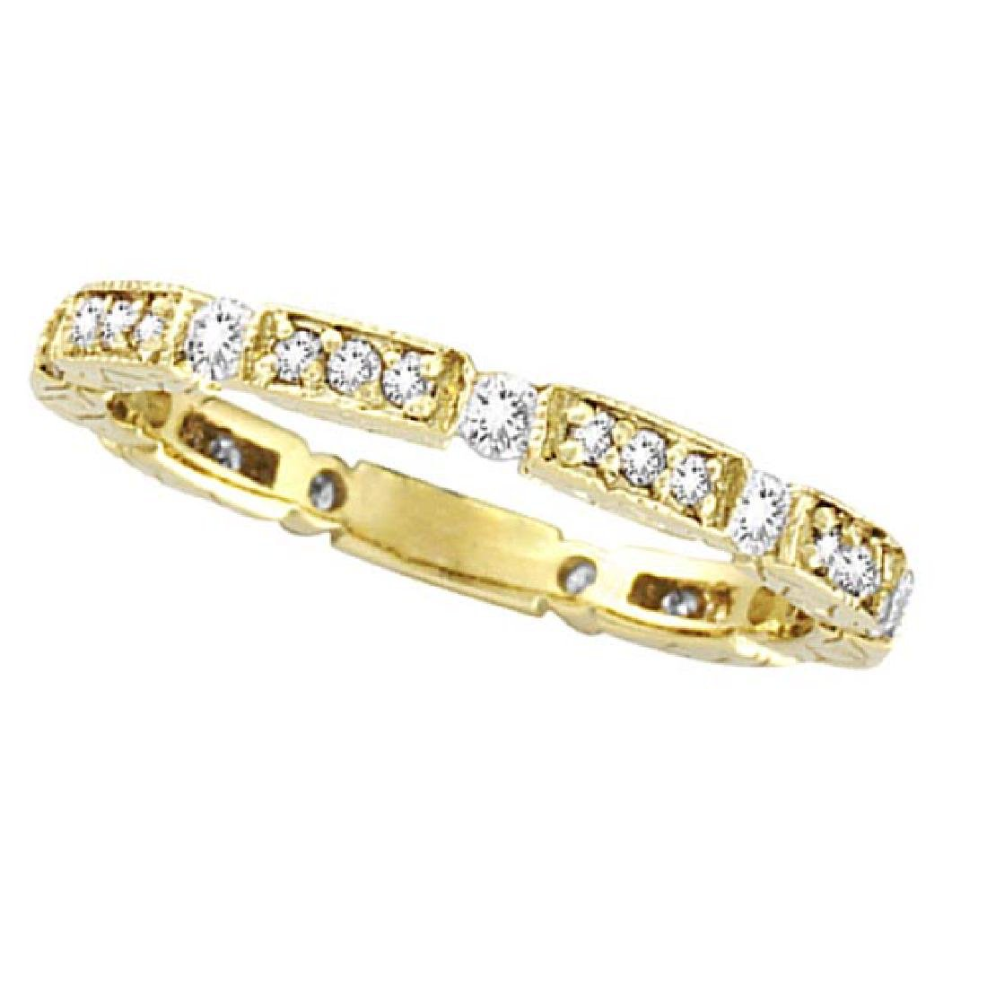 Diamond Anniversary Band 14k Yellow Gold  (0.50CTW)