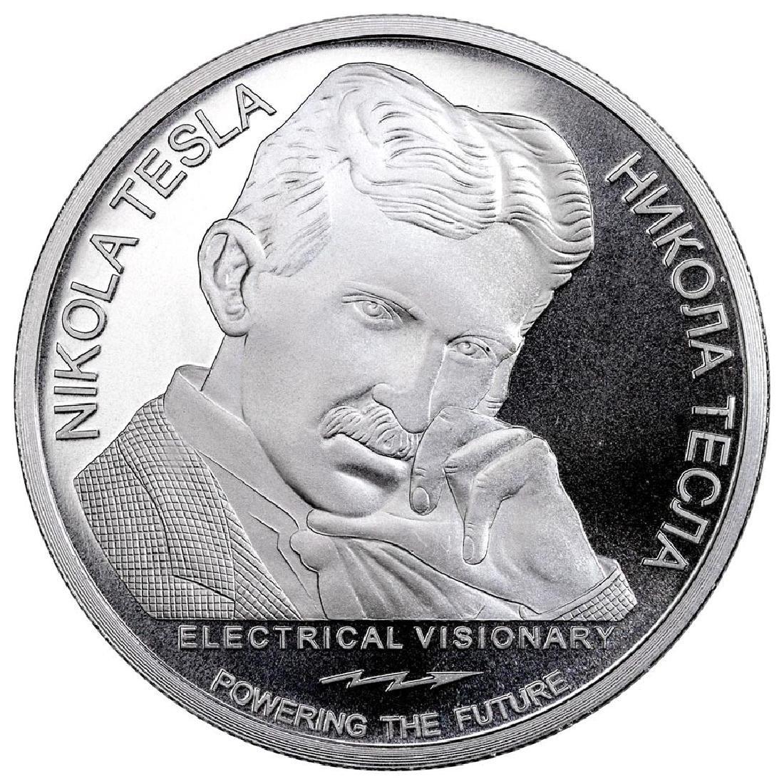 2018 Republic of Serbia 1 oz Silver 100 Dinar Nikola Te