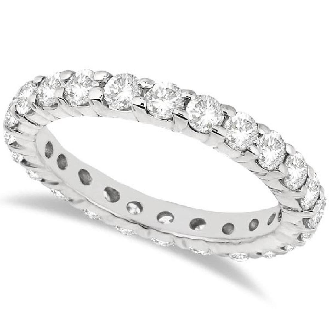 Diamond Eternity Ring Wedding Band in 14k White Gold (2