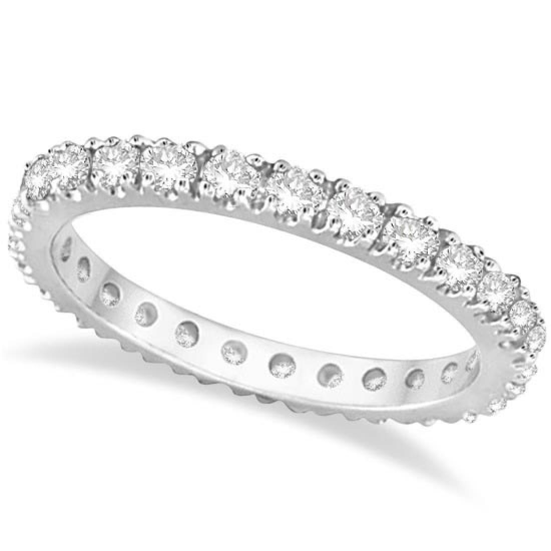 Diamond Eternity Wedding Ring Band 14K White Gold (0.51