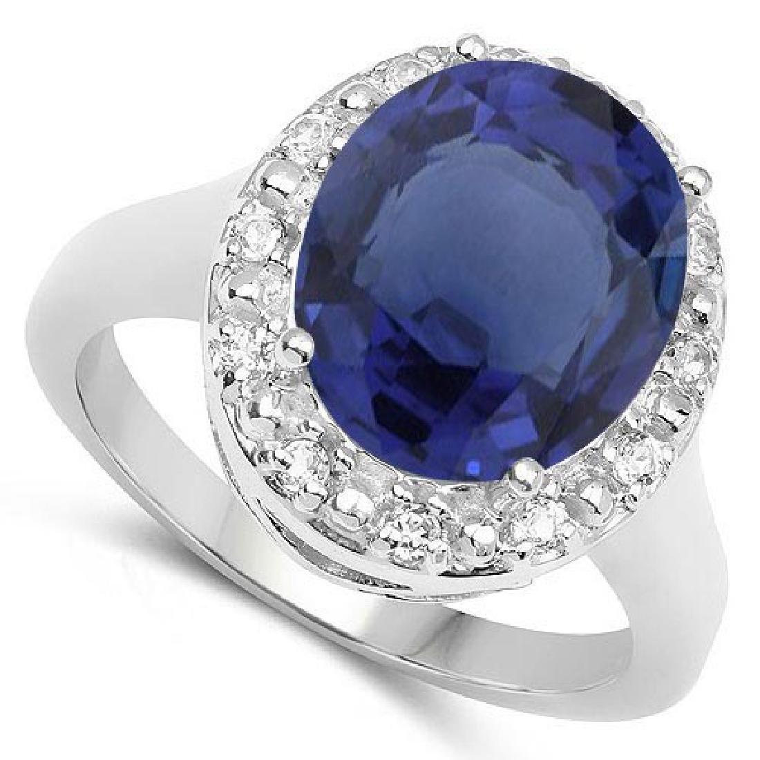 Certified 1.40 Ctw. Genuine Blue Sapphire And Diamond 1