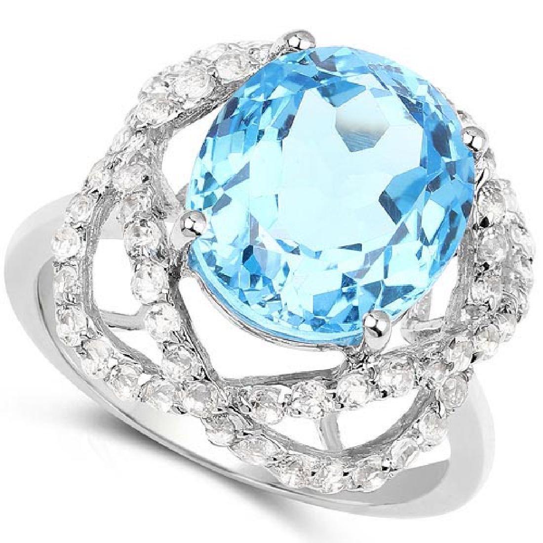 Certified 1.80 Ctw.Genuine Aquamarine And Diamond 14K w