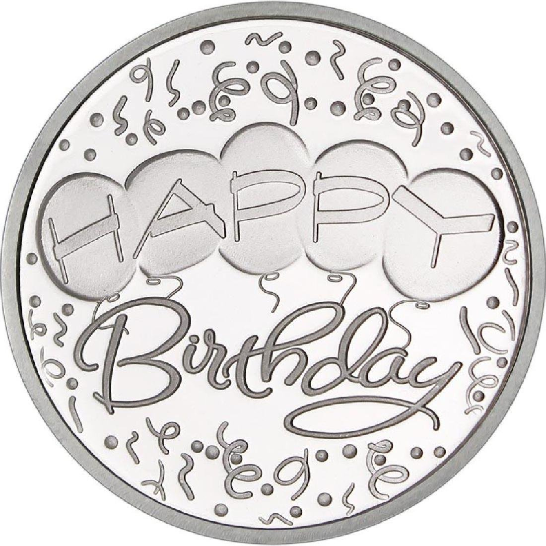 Happy Birthday Balloons .999 Silver 1 oz Round