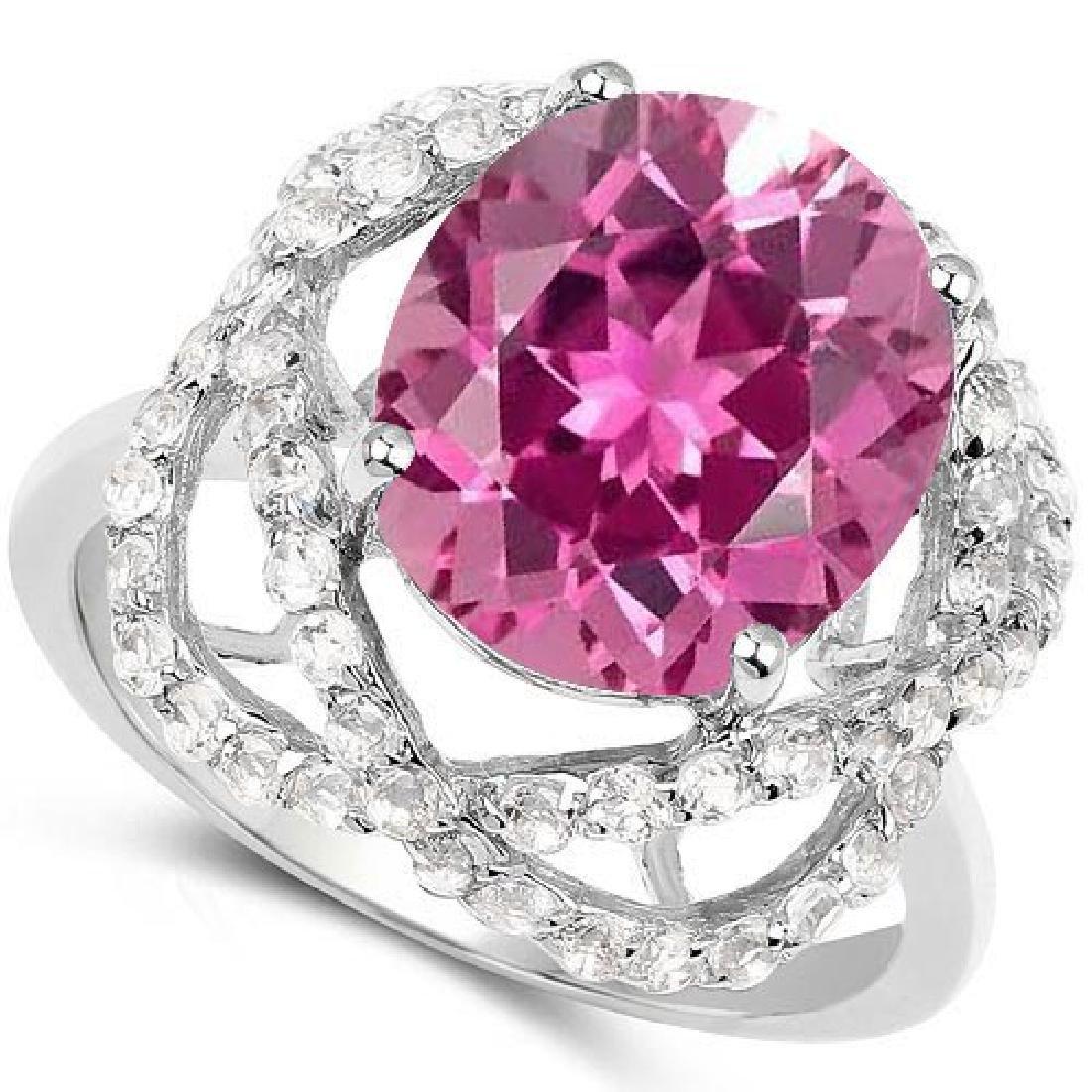 Certified 1.60 Ctw. Genuine Pink tourmaline And Diamond