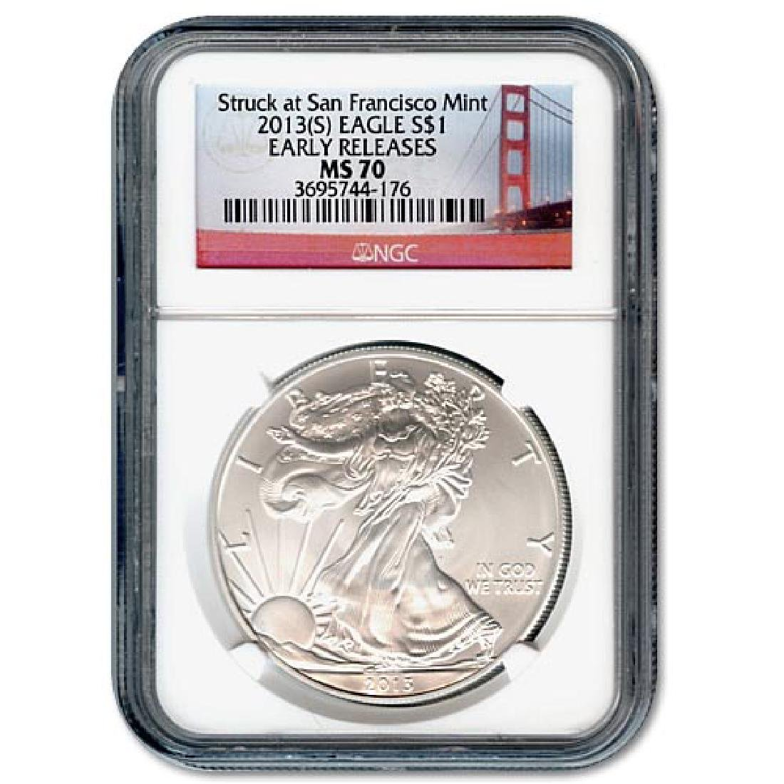 Certified Uncirculated Silver Eagle 2013(S) (Struck at