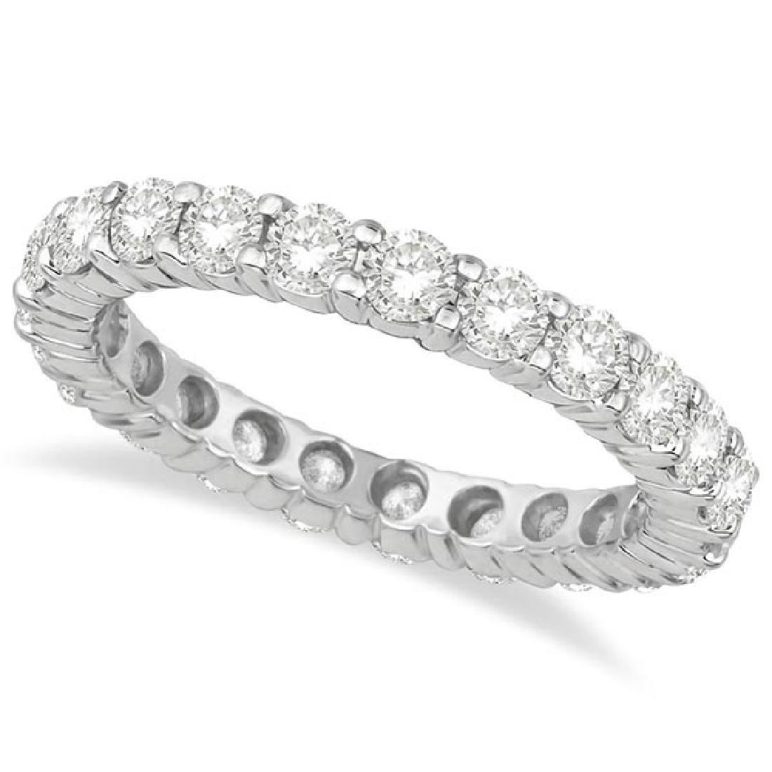 Diamond Eternity Ring Wedding Band 18k White Gold (2.50