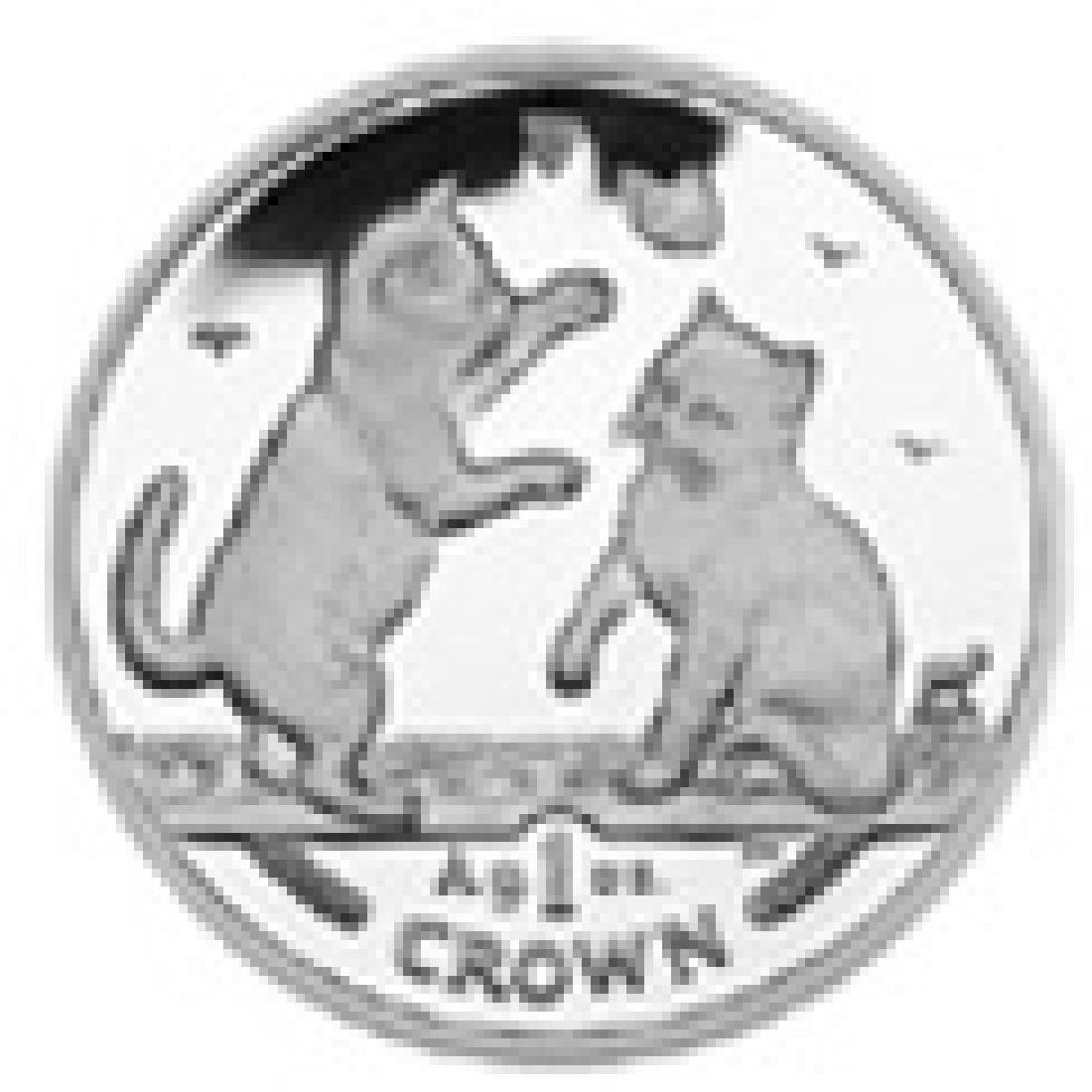 Isle of Man 2004 1 Crown Silver Proof Tonkonese Cat
