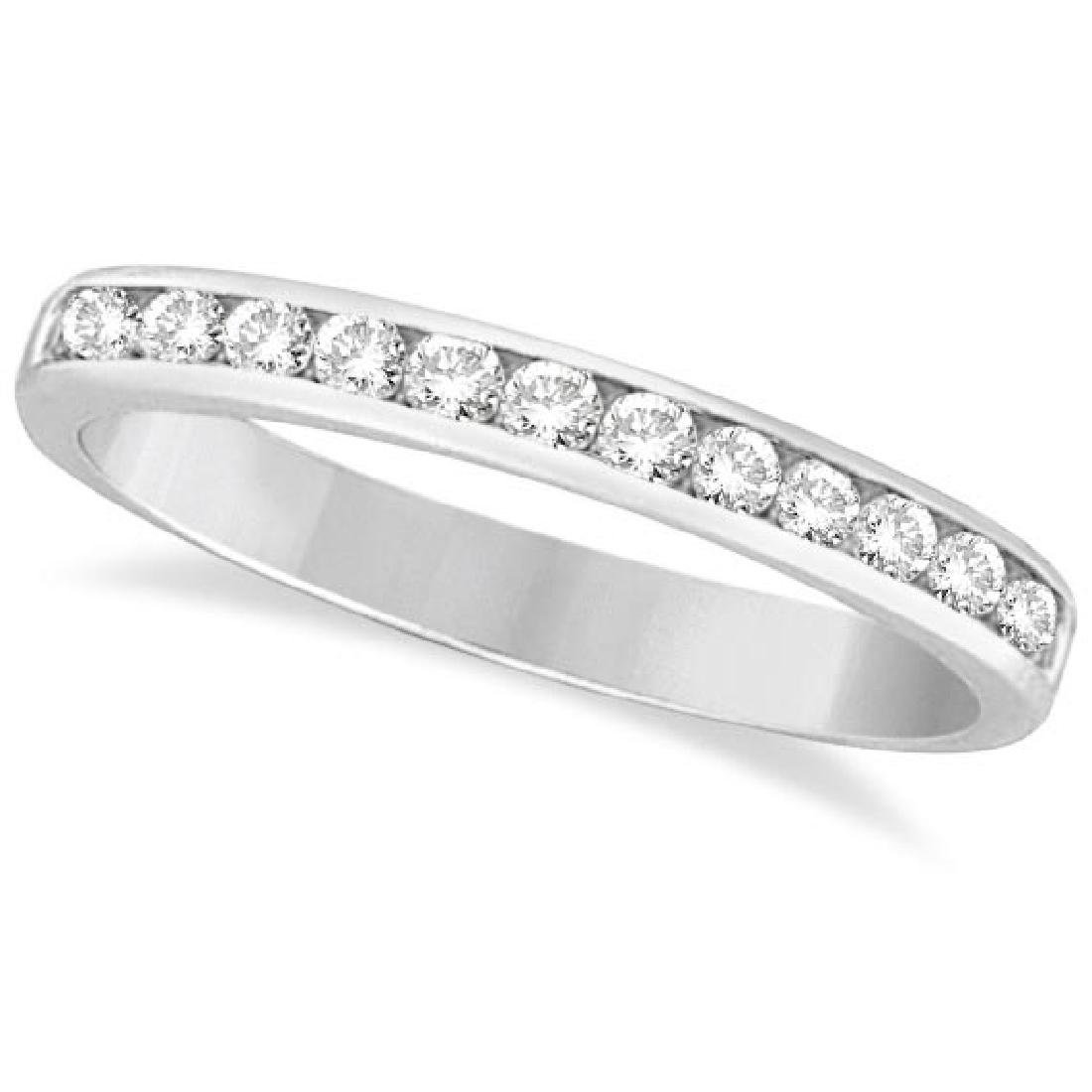 Channel-Set Diamond Ring Band in 14k White Gold (0.33 c