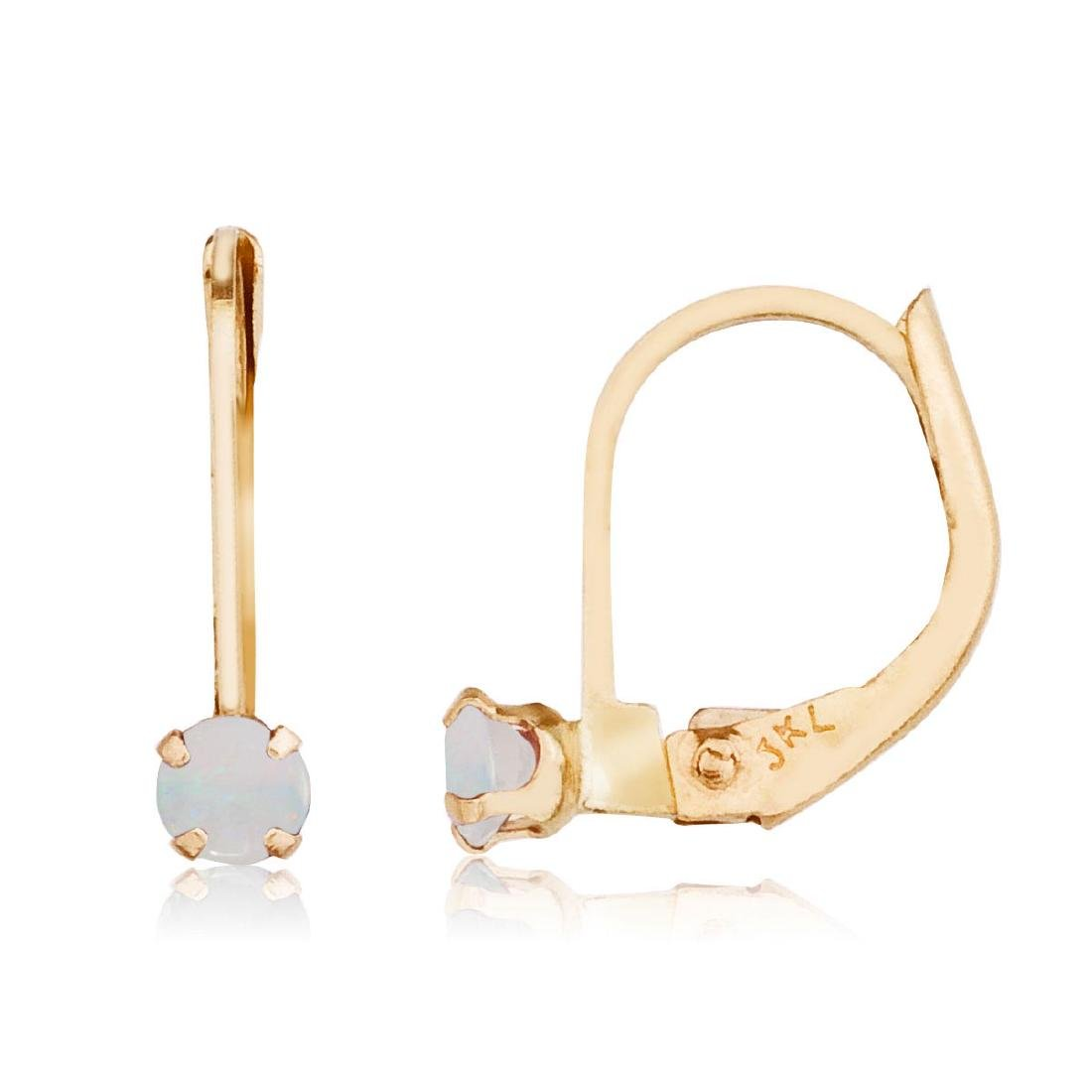 Certified 14k Opal Leverback Earrings