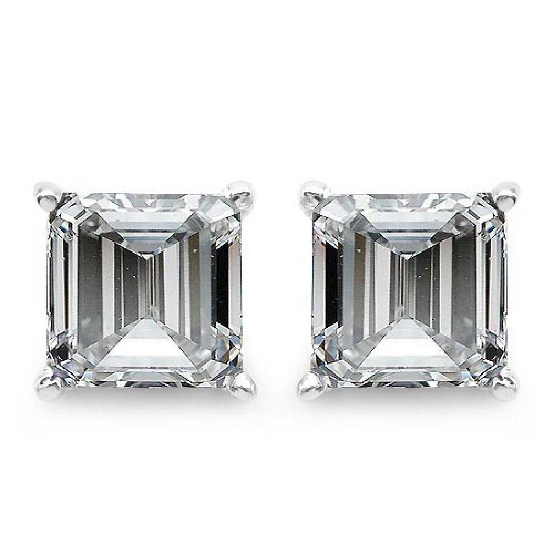 Certified .50 CTW Raident Diamond 14K White Gold Earrin