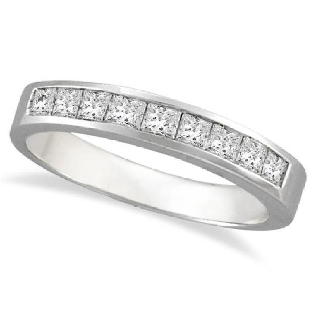 Princess-Cut Channel-Set Diamond Ring in 14k White Gold