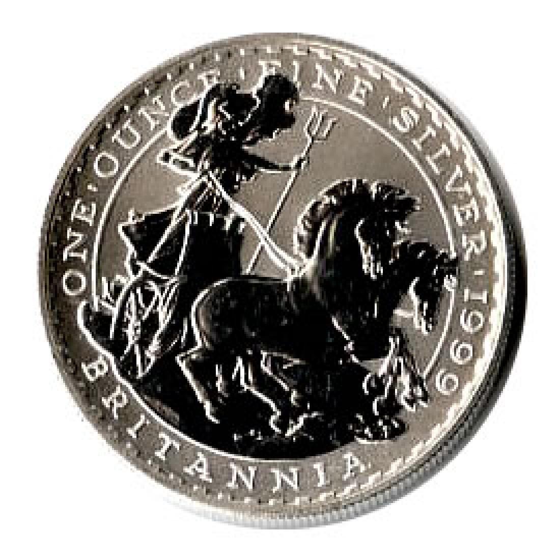 Uncirculated Silver Britannia 1 oz 1999