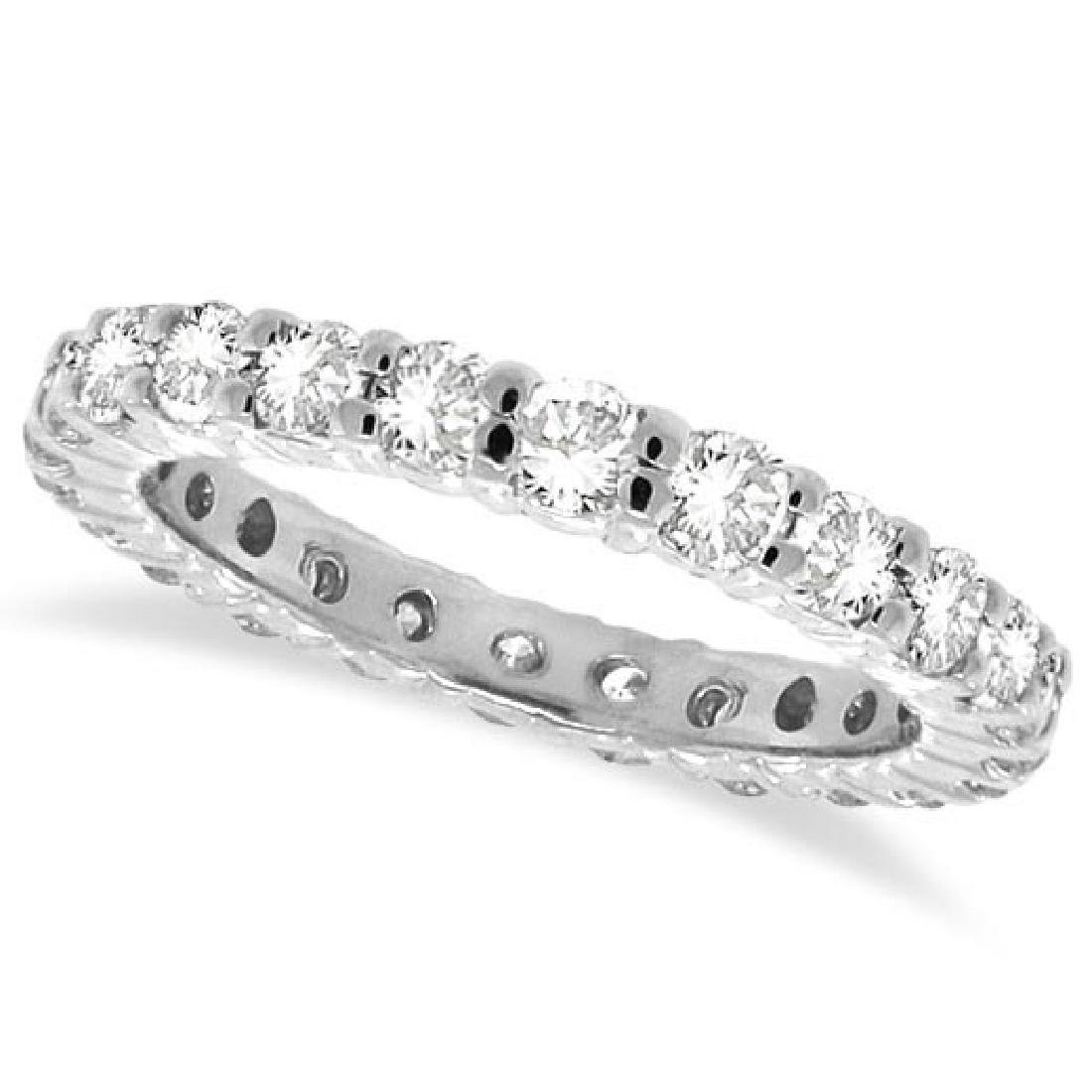 Diamond Eternity Ring Wedding Band 14k White Gold (1.07