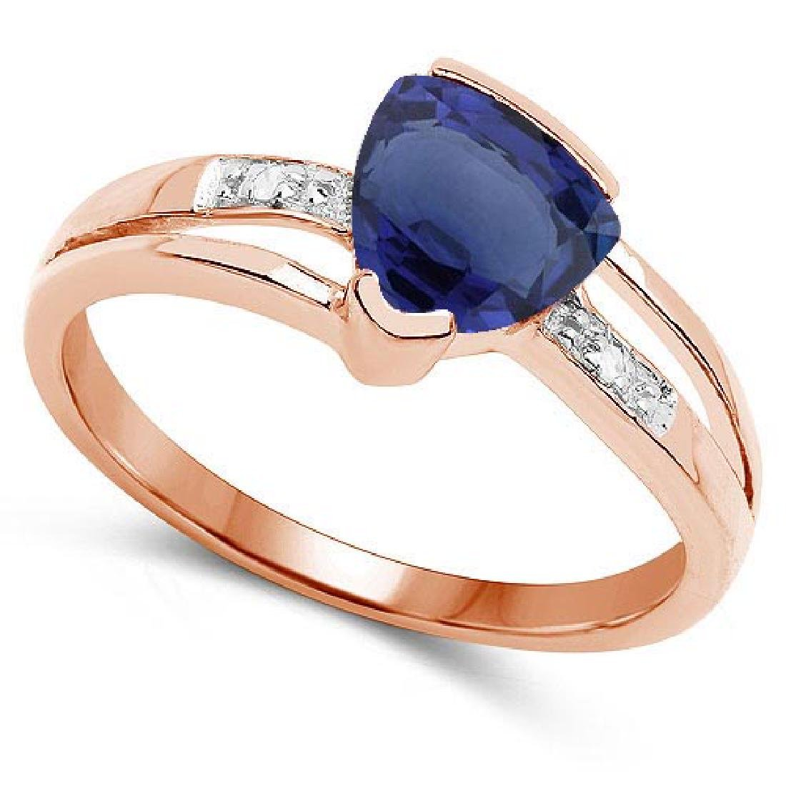 Certified 2.28 CTW Genuine Blue Sapphire And Diamond 14